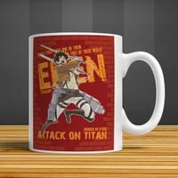 İf Dizayn Atak On Titan Eren Baskılı Kupa Bardak