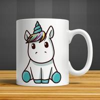 İf Dizayn Bebek Unicorn Baskılı Kupa Bardak