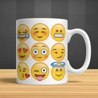 İf Dizayn Emoji Baskılı Kupa Bardak