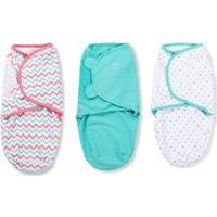 Summer Infant Swaddle Me Kundak 3'lu Paket Turkuaz/Çizgili/Noktalı