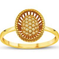 Allegro Gold Oval Tomurcuk Altın Yüzük AGT0512