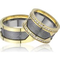 Allegro Gold El İşi Gümüş Çift Alyans AG0001