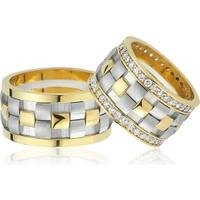 Allegro Gold El İşi Gümüş Çift Alyans AG0020