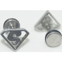 Cadının Dükkanı 316L Cerrahi Çelik Süpermen Kulak Piercing
