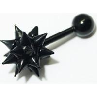Cadının Dükkanı 316L Cerrahi Çelik Spike Top Siyah Kulak Piercing