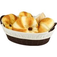 Bora Hasır Desenli Ekmek Sepeti Bezli Büyük
