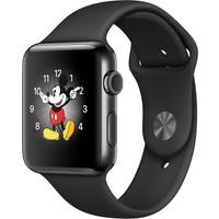 Apple Watch Series 2 38 mm Uzay Siyahı Paslanmaz Çelik Kasa ve Siyah Spor Kordon