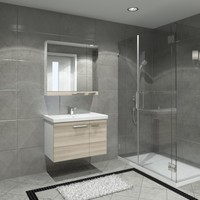 Kare Banyo Terra 80 Cm Banyo Dolabı Mdf