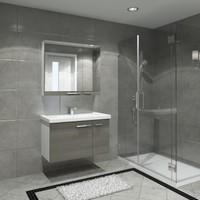 Kare Banyo Terra 90 Cm Banyo Dolabı Mdf
