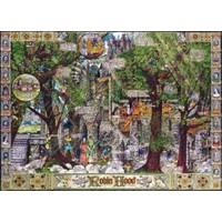 Masterpieces 1000 Parça Puzzle Robin Hood un Maceraları Özel Seri Gömülü Planlar
