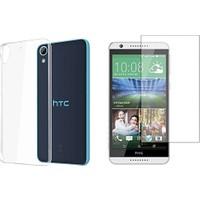 Blueway Htc Desire 820 Ekran + Şeffaf Silikon Kılıf