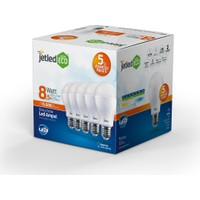 Jetled Extra Eco 8.5 Watt 5'Li Kutu Led Ampul E27 Sarı Işık