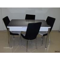 Teknoset Mutfak Masa Takımı Sm14Siyah-Beyaz