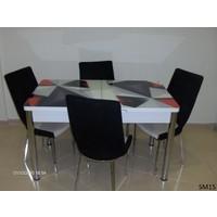 Teknoset Mutfak Masa Takımı Sm15Kırmızı-Siyah