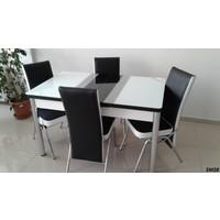 Teknoset Mutfak Masa Takımı Sm28Siyah-Beyaz