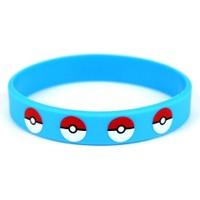 Modakedi Pokemon Go Mavi Silikon Erkek Bileklik
