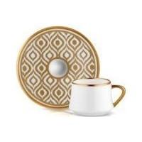 Koleksiyon Sufi İkat Gold 6Lı Türk Kahvesi Seti