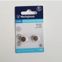 Westinghouse AG9,LR45 Alkalin Saat Pili 2li Blister Ambalaj