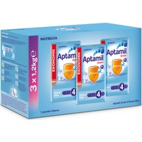 Aptamil 4 Çocuk Devam Sütü 1200 gr - 3'lü