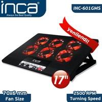 """Inca INC-601GMS 7""""-17"""" 6 Fanlı 2xUSB 6 Kademeli Oyuncu Notebook Soğutucu"""