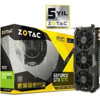 Zotac Nvidia GeForce GTX 1070 AMP Extreme 8GB 256Bit GDDR5 (DX12) PCI-E 3.0 Ekran Kartı ZT-P10700B-10P