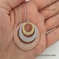 Else Silver 3 Halka İsimli Kolye