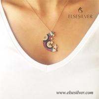 Else Silver Ay Yıldızlar Kolye