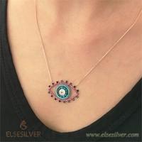 Else Silver Mavi Göz Kolye