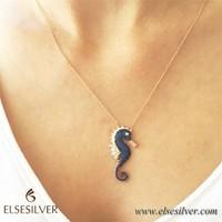 Else Silver Deniz Atı Gümüş Kolye