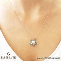 Else Silver Mavi Yıldız Kolye