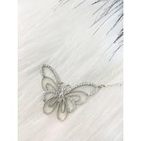 Else Silver Kelebek Gümüş Kolye