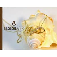 Else Silver Sarı Sonsuzluk Kalp Kolye