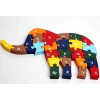 Kayıkcı ahşap Eğitici Oyuncak - Fil Puzzle 26 Parça