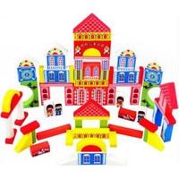 Kayıkcı ahşap Lego Seti 60 Parça Yapı Blokları Çiftlik