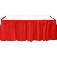 KullanAtMarket Kırmızı Plastik Masa Eteği -1 Adet