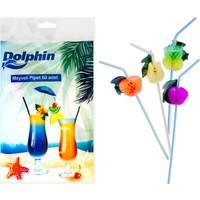 KullanAtMarket Dolphin Meyveli Pipet - 50 Adet