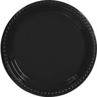 KullanAtMarket Siyah Plastik Tabak 22 cm -10 Adet