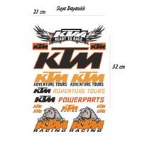StickerMarket KTM Motosiklet Sticker Seti