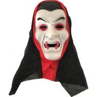KullanAtMarket Beyaz Drakula Maske - 1 Adet