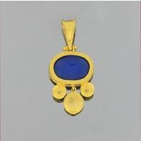 Tuğrul Kuyumculuk 14 Ayar Altın Lapis Lazuli Kolye Ucu