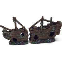 Chicos-Dekor Batık Gemi Koyu Renkli (40X10X19)