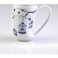 Arte Bianco Zeus 8847 Desen Mug Bardak Lacivert
