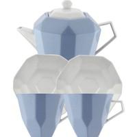 Kütahya Porselen 6 Parça Çay Seti Mavi