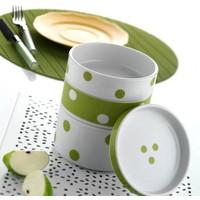 Kütahya Porselen 753 Desen 4 Parça Katlı Porselen Saklama Kabı