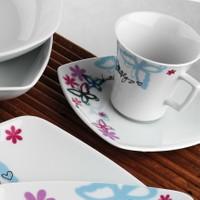 Kütahya Porselen Medusa 12 Parça 6 Kişilik Çay Takımı