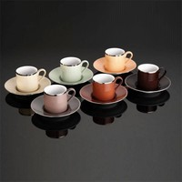 Kütahya Porselen Rüya 12 Parça Natürel Kahve Fincan Takımı
