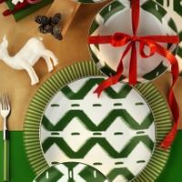 Kütahya Porselen Zeugma Servis Tabağı Yeşil