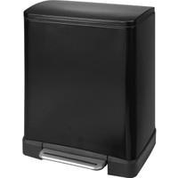 Prima Nova Paslanmaz Çelik 12L Pedallı Çöp Kovası Siyah D-15299