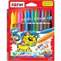 Fatih Keçeli Boya Kalemi 12 Renk (Karton)