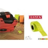 Tanex 12x21 mm Çizgili Flo Sarı Fiyat Etiket 800 Adet